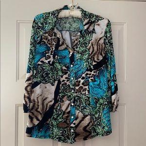Women's Dressbarn Button Down Shirt